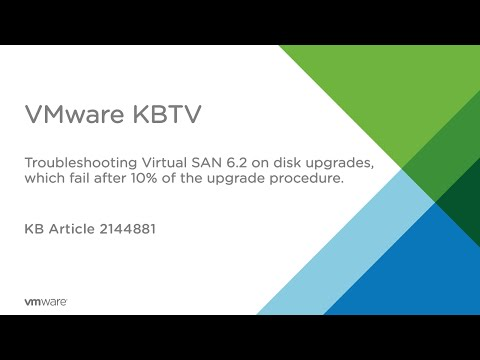 Troubleshooting vSAN 6.2 on disk upgrade fails at 10%