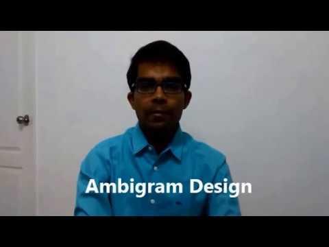Ambigram Design tutorial 1- Introduction