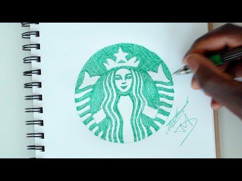 SKETCH SUNDAY #32 How To Draw The Starbucks Logo - DeMoose Art