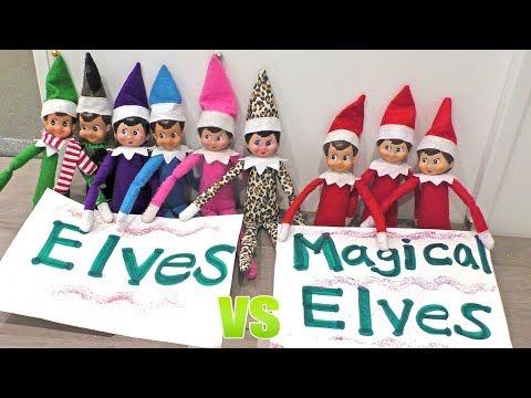 Elf on the Shelf FLYING Contest - Magical Elves vs Regular Elves | DavidsTV