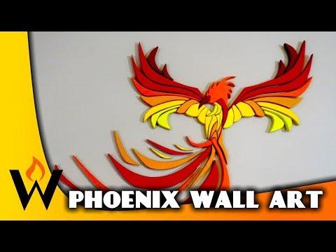 Wood Phoenix with Pattern - Scroll Saw, CNC, Intarsia