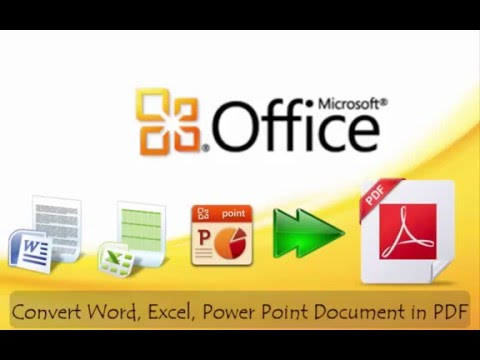 Convert Word, Excel, Power Point Document into PDF by using MS Office 2016
