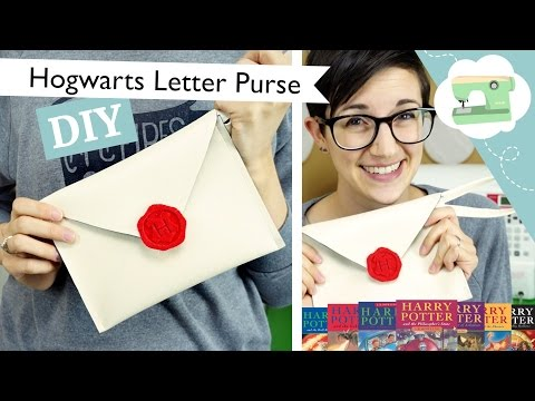Hogwarts Letter Purse - A DIY Envelope Clutch | @laurenfairwx