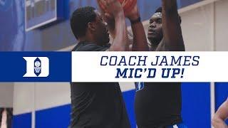 Duke Basketball Skill Workout: Coach James Mic