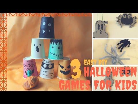 3Easy DIY Halloween Games Crafts ハロウィーン遊び  萬聖節遊戲