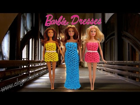 Rainbow Loom Barbie Dress 3D Wearable- How to Loom Bands tutorial