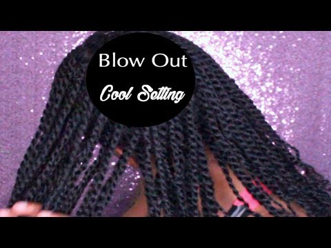 How I Prep My Hair Before Box Braids| Cool Setting Blow Out