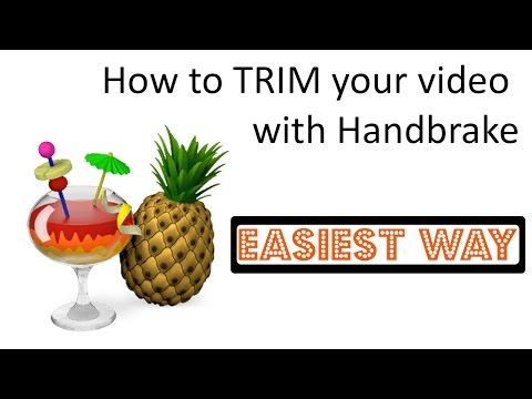 How to TRIM Your Video With HANDBRAKE (Easiest Way!)