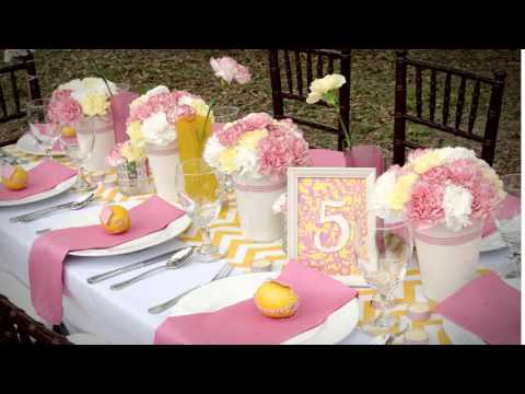 Pink and Yellow Tablescape / Pensacola Wedding Planner