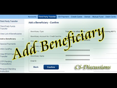 How to add beneficiary in HDFC net banking