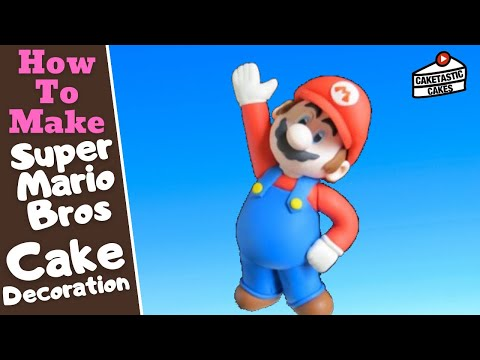 How To Make a MARIO from SUPER MARIO BROS Cake Decoration with Caketastic Cakes Instructions