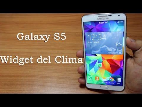 Galaxy S5 Widget de clima en cualquier Android // Tu Android Personal