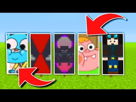 Minecraft: Top 5 INSANE Banner Designs (Tutorial) (Ps3/Xbox360/PS4/XboxOne/WiiU)