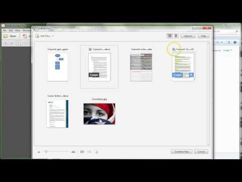 Adobe Acrobat XI: Combine Multiple File Formats to PDF Easily
