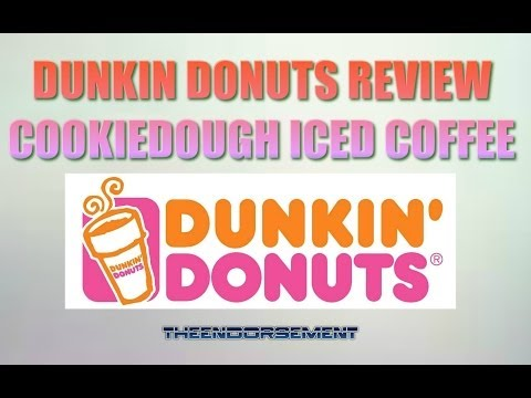 DUNKIN DONUTS COOKIE DOUGH ICED COFFEE REVIEW #33