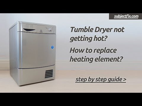 Tumble dryer not getting hot? How to diagnose & replace heating element (Hotpoint/Indesit/Creda)