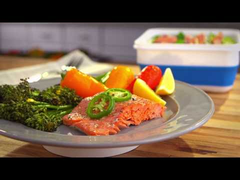 Dinner Tonight, Lunch Tomorrow: Sheet Pan Salmon & Cold Salmon Salad
