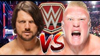 WWE RAW 2K17 - AJ Styles vs Brock Lesnar - WWE Universal Championship Match