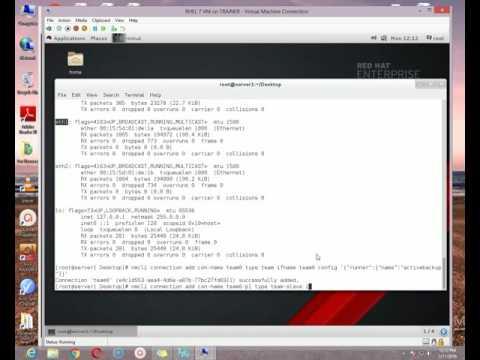 NIC teaming in Redhat Enterprise Linux 7