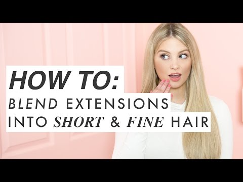 6 MUST KNOW Tricks For BLENDING EXTENSIONS into short or fine hair | Milk + Blush Hair Extensions