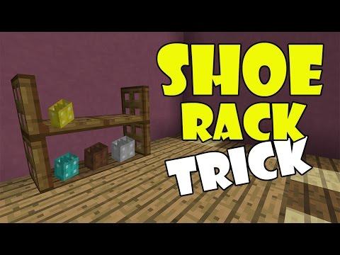 SHOE RACK TRICK | Minecraft PE (Pocket Edition) MCPE