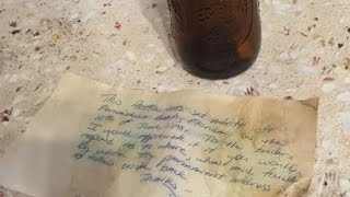 Man Finds Message in a Bottle 36 Years After It Was Tossed Into the Ocean