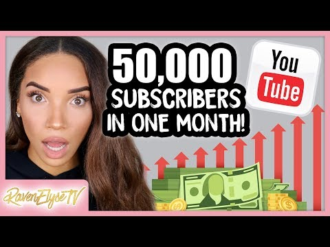 How I Gained 50K SUBSCRIBERS IN 1 MONTH! 5 Tips to Grow Your YouTube Channel 2018