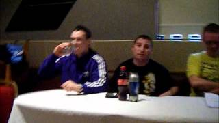 Conor Burns vs Paddy Gal, official North Belfast press conference