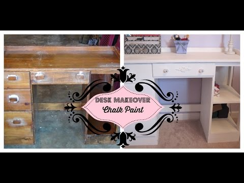 Desk Redo using Annie Sloan Chalk Paint