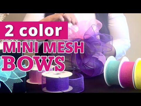 How to Make Mini Mesh Bows with 2 Colors | Nashville Wraps