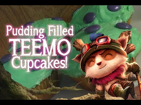 PUDDING FILLED TEEMO CUPCAKES!