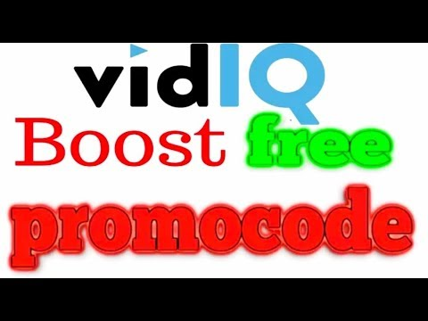 How to get vidIQ BOOST FOR FREE! PROMO CODE !!!! - 100% WORKS !!! - 2018 !!!