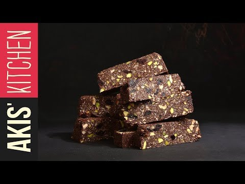 Chocolate energy bars with nuts | Akis Kitchen