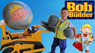 BIGGEST Bob The Builder Toy Collection Ever Surprise Egg Opening And Ride On Bulldozer With CKN Toys