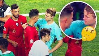 #x202b;دي ليخت يكشف عما طلبه منه رونالدو بعد نهاية مباراة امم اوروبا..!!#x202c;lrm;