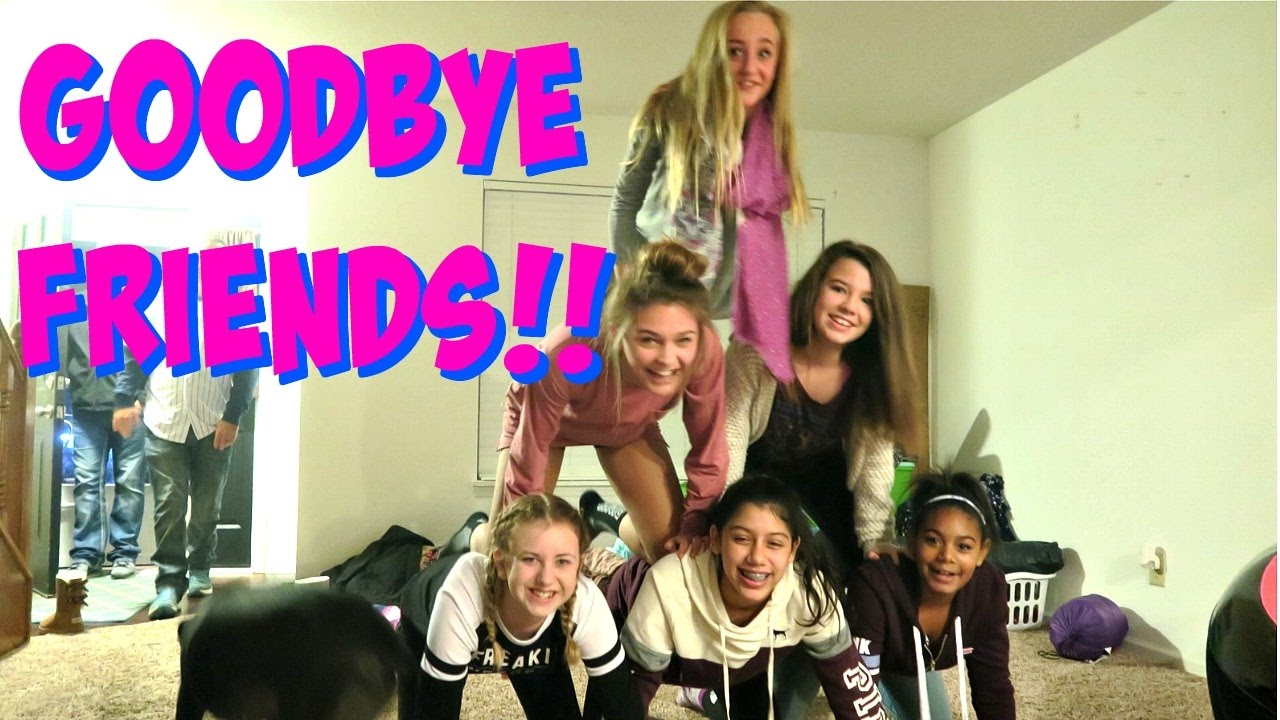 GOODBYES AT OUR SLEEPOVER!! MOVING VLOG DAY 3!!