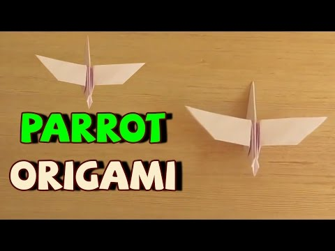 Make Origami Bird - Steps: How to Make Paper Parrot | Origami Flapping Bird