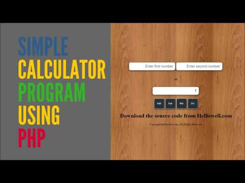 Create a Simple calculator Using PHP with (source code)