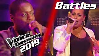 Rihanna - What's My Name? (Tyrone Frank vs. Janet Gizaw) | The Voice of Germany 2019 | Battles