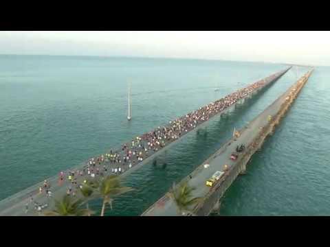 Florida Keys Seven Mile Bridge Run 2018 (raw footage)