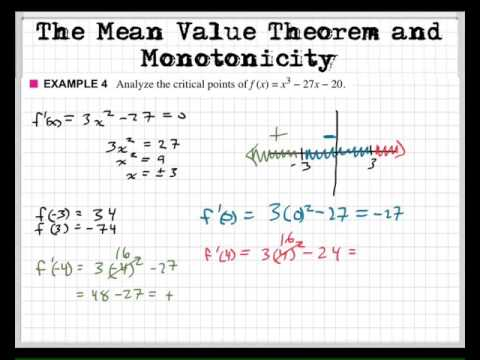 Critical points and monotonicity