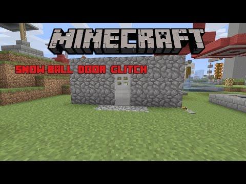 Snowball Door Glitch - Minecraft PS4 Edition