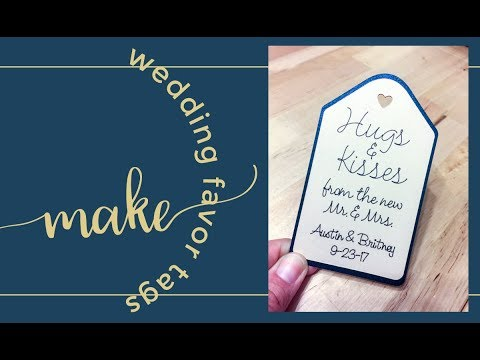 How to Make 200 Wedding Favor Tags in Cricut Design Space (for Beginners)