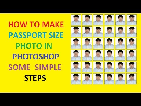 HOW TO MAKE PASSPORT SIZE PHOTO IN PHOTOSHOP SOME SIMPLE STEPS