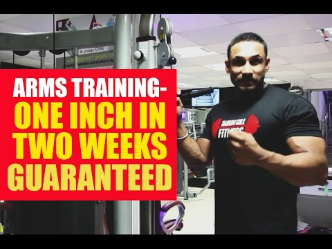 One inch in two weeks guaranteed- arms training