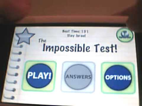 IPHONE- The impossible test - ALL THE ANSWERS- UPDATE