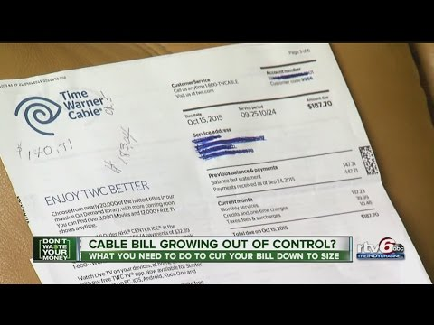 How to cut down on cable bill