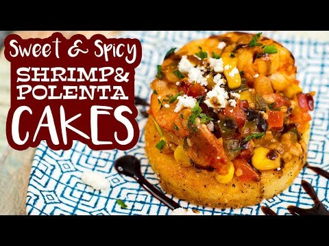 Sweet & Spicy Shrimp on Ghee Fried Polenta   The Starving Chef   COOK WITH ME