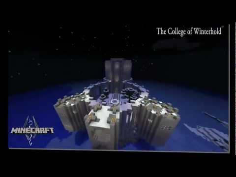 Skyrim The College of Winterhold Created in Minecraft