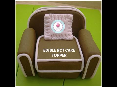 How to Make an Edible RCT Armchair Cake Topper Tutorial- Ceri Badham